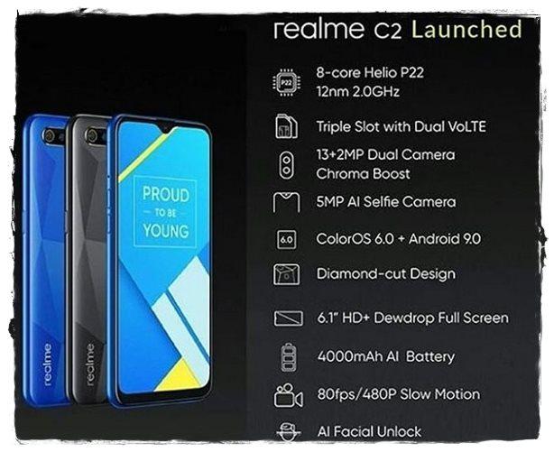 Realme C2 Spesifikasi