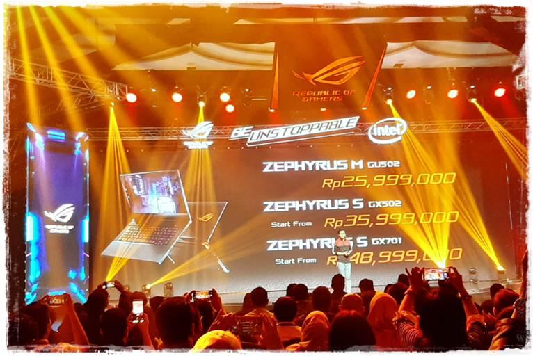 Harga Laptop Gamin ASUS ROG Zephyrus