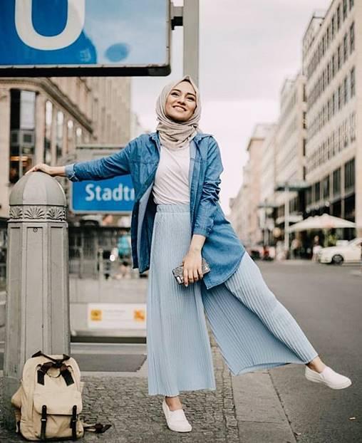 Fashion Busana Muslim Dengan Warna Pastel Terbaru 2