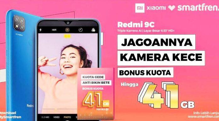 Promo Bundling Smartfren dan Xiaomi Redmi 9C