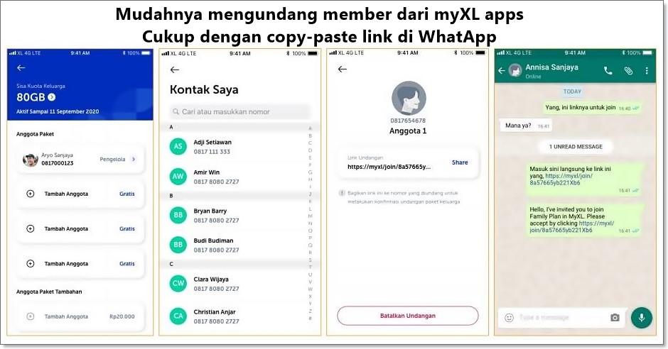 Mengundang Member XL Paket Akrab
